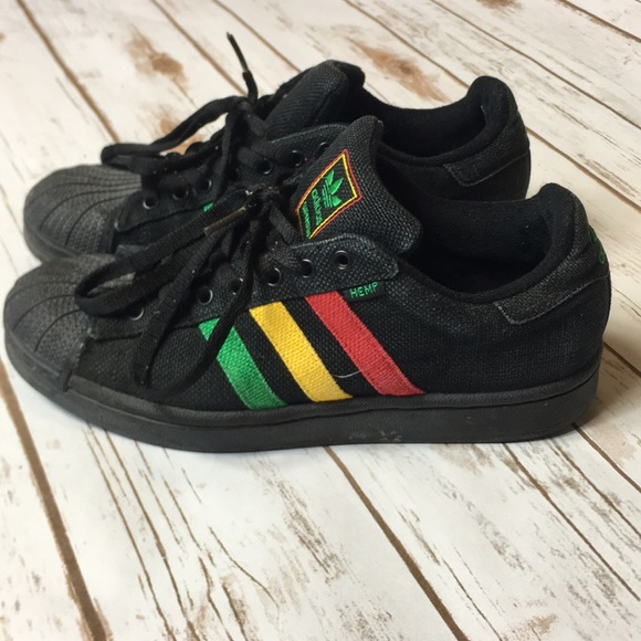 VTG Adidas Superstar Cannabis Shoes Womens Size 8